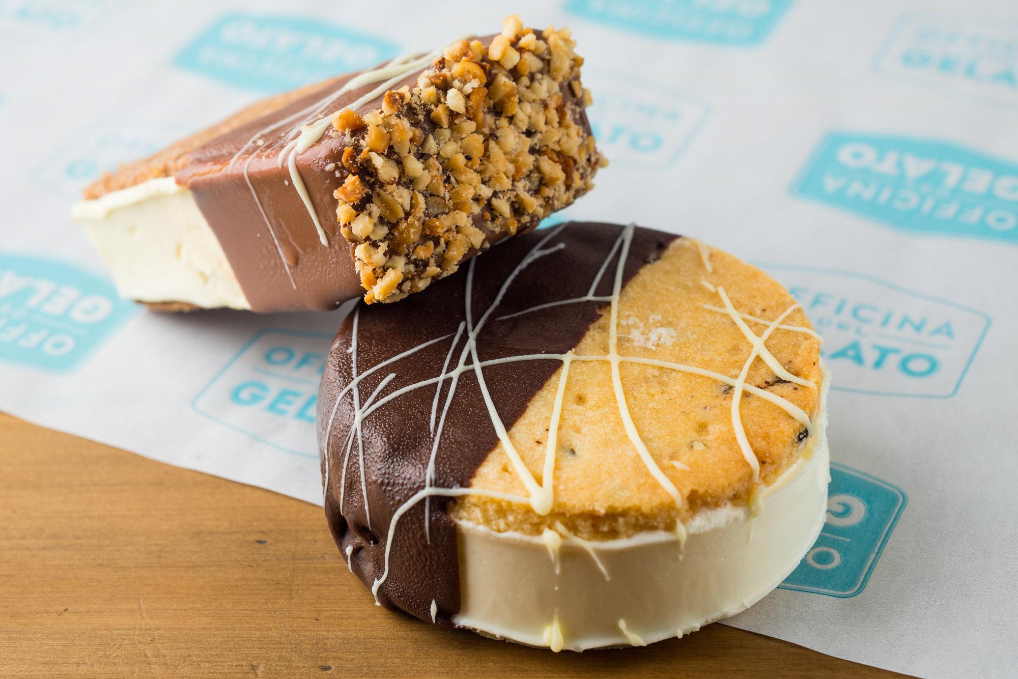 Biscotto: massa de biscoito e recheio de gelato