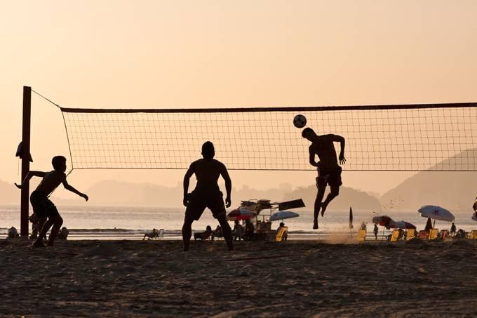 Footvolley on the Beach