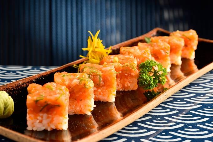 Shin Koike; batera de salmão