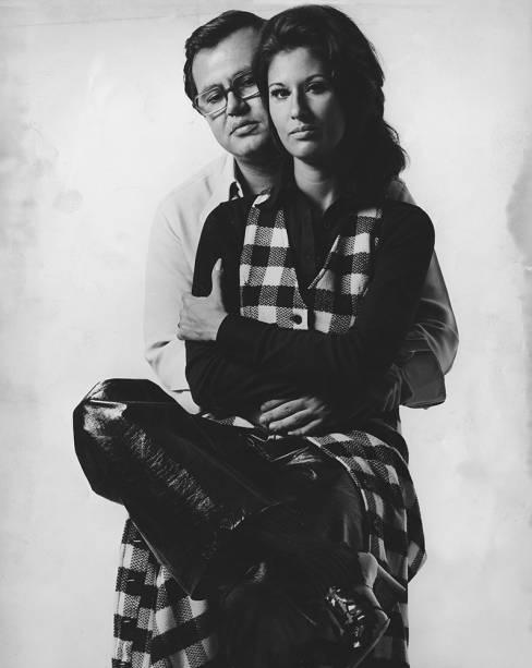 Ricardo Amaral com a esposa, Gisela. 1970