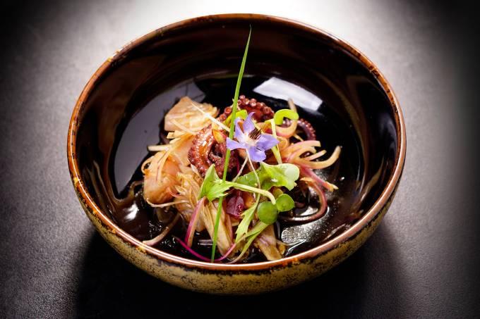 Mori Ohta Sushi: marinado de frutos de mar