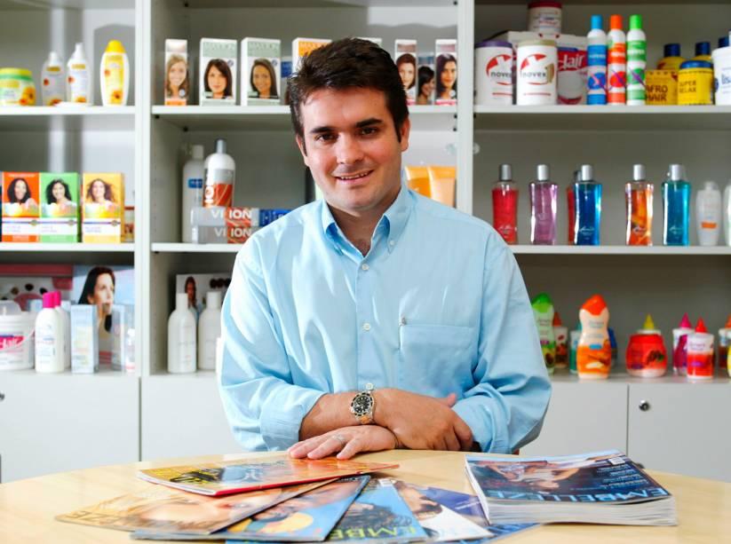 O filho predileto Jomar Beltrame, vice-presidente do grupo Embelleze: aumento de participação questionado pela mãe e pela ex-cunhada