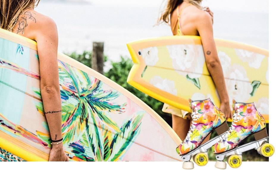 A linha Quero (2012):a ideia é vender um estilo de vida. Por isso, as prateleiras das lojas exibem outros itens de desejo dos cariocas, como pranchas, patins, skates e boias de piscina