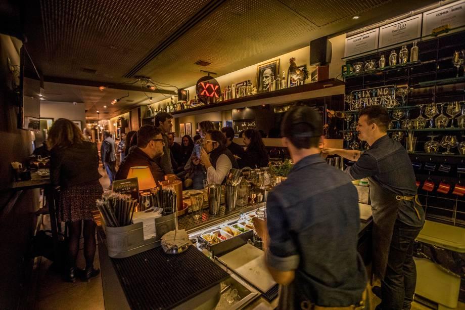 O ambiente atual da Mixxing, aos fundos do restaurante Gusto, no Leblon