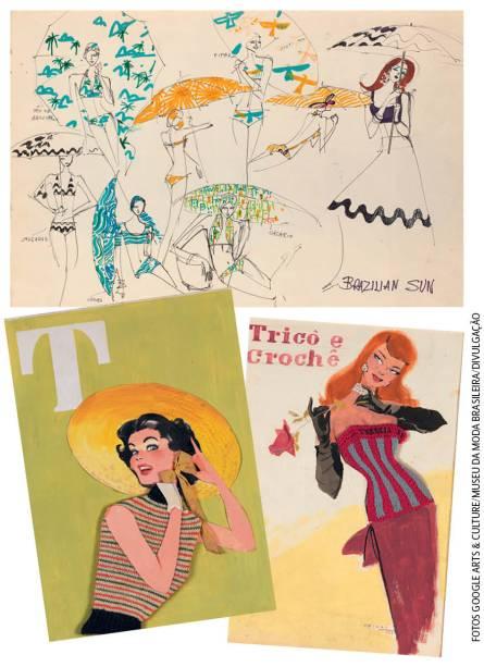 Museu da Moda Brasileira: a instituição expõe ainda os esboços do ilustrador e estilista Alceu Penna, muito influente entre as décadas de 30 e 70