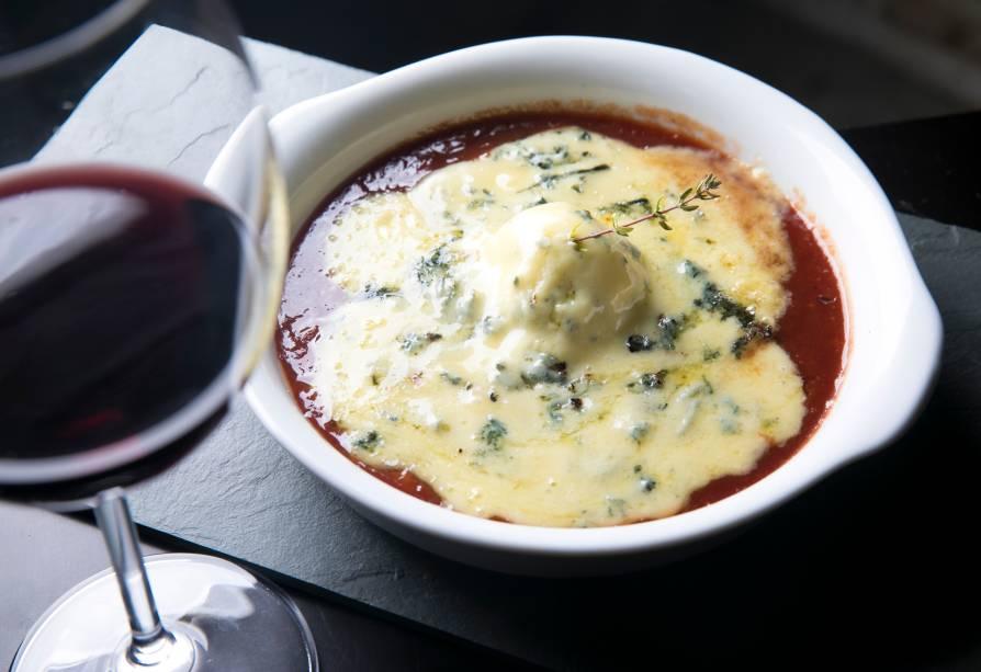 Cocotte de gorgonzola com goiabada (R$ 36,00)