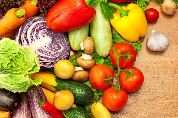 Legumes e verduras.