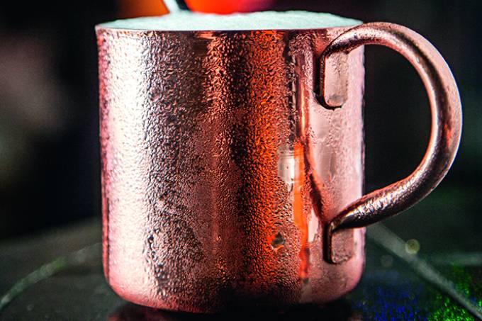 Drinque moscow mule, do Picco, em Pinheiros.