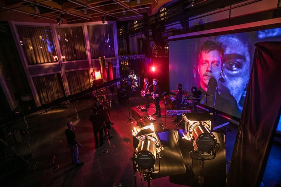 Gravação de clipe da banda Scalene: versatilidade nos estúdios