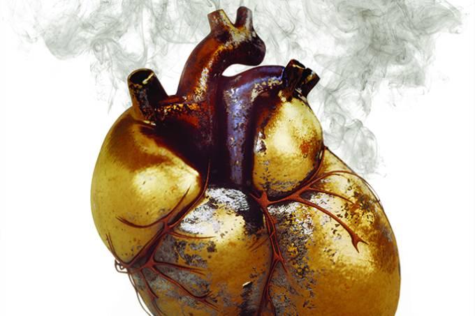 Ilustração de um coração, na matéria sobre insuficiência cardíaca.