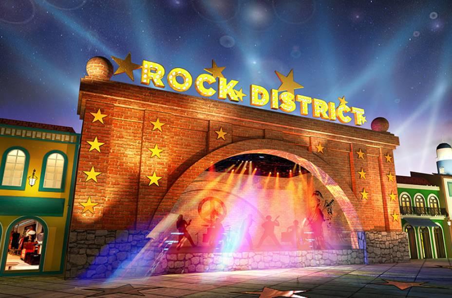 Rock District: shows, performances de rua e cenografia especial