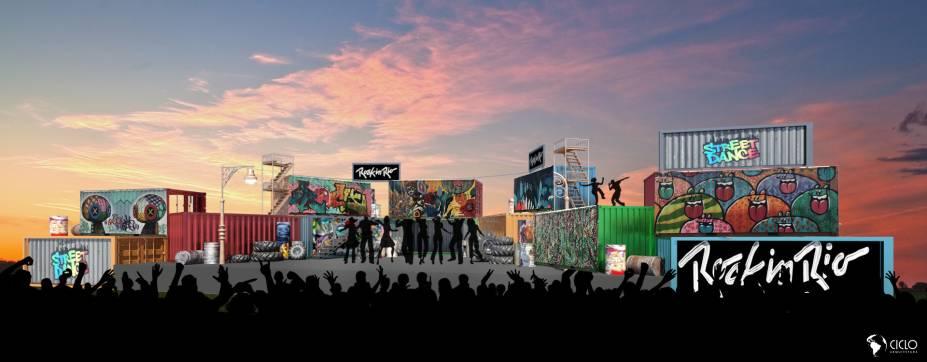 Street Dance: palco decorado com contêineres grafitados será dedicado a dança