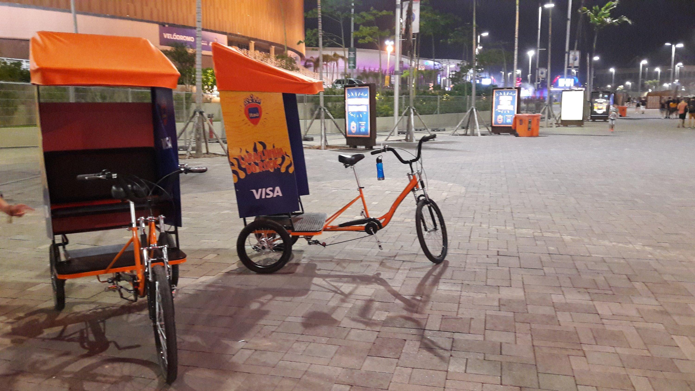 Triciclos gratuitos do Itaú na Cidade do Rock