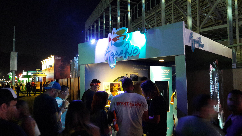 Estande do AquaRio no Rock in Rio 2017