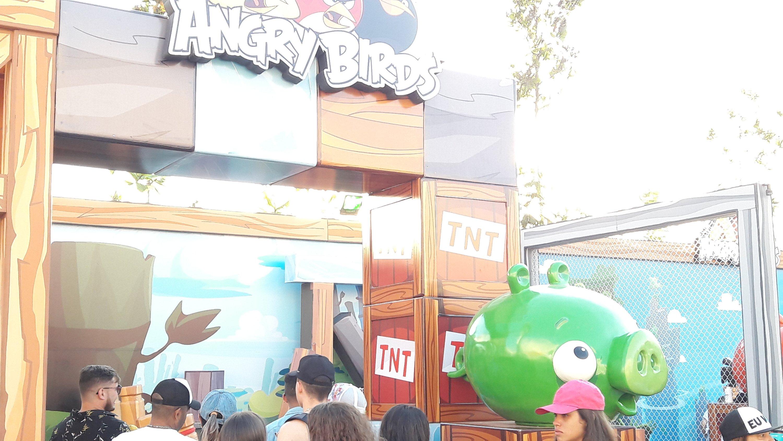 Espaço do Angry Birds no Rock in Rio 2017