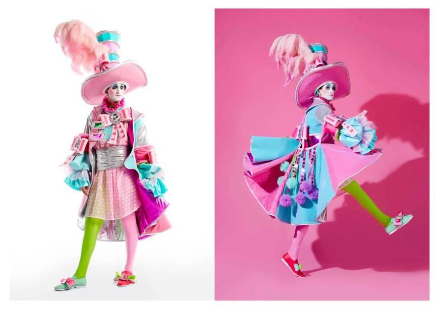 O luxo dos desfiles do passado é inspiração para verde-e-rosa