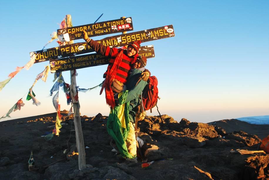O topo do monte Kilimanjaro