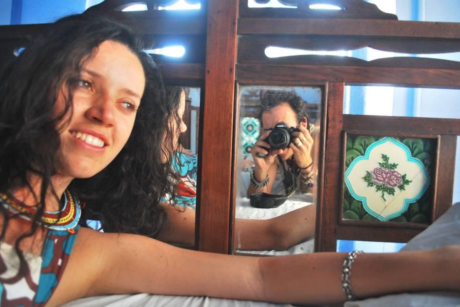 Com a namorada, Cristina, em Zanzibar