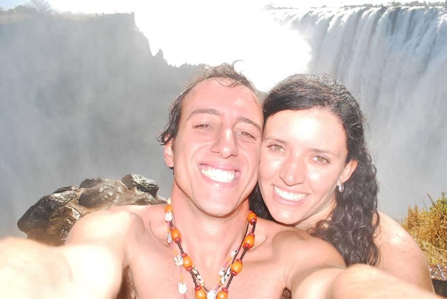 Nas cataratas de Vitcoria Falls