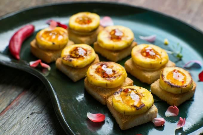 Brasil a Gosto; canapé de banana