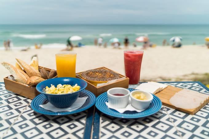 Clássico Beach Club; café da manhã