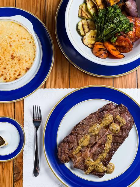 Short rib, batata gratinada e legumes grelhados