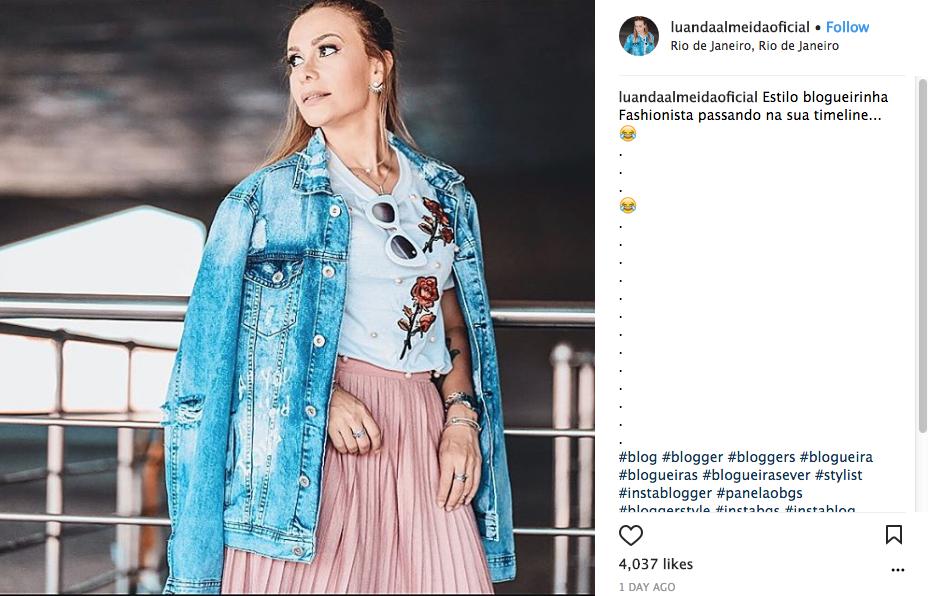 Ela já chegou a faturar 7000 reais por mês com a carreira de blogueira