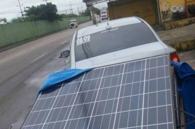 Painéis solares roubados