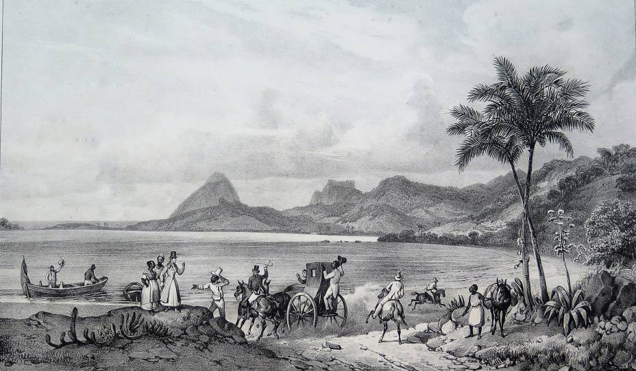 Lagoa das Tretas (atual Lagoa Rodrigo de Freitas)