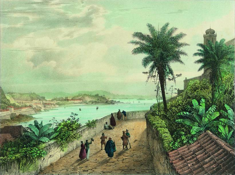 Vista do Rio de Janeiro Tomada nas Proximidades da Igreja da Glória