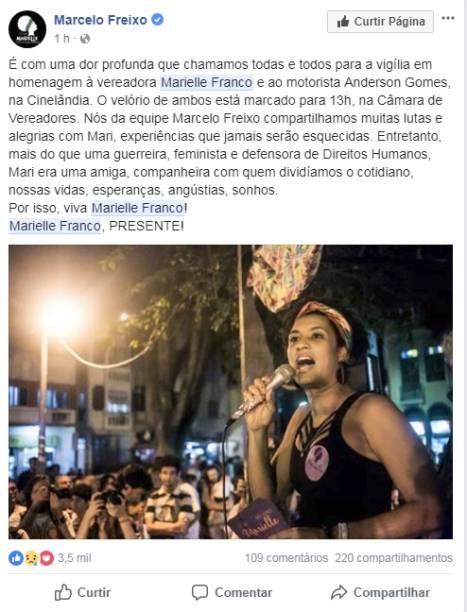 Marcelo Freixo, deputado estadual pelo PSOL
