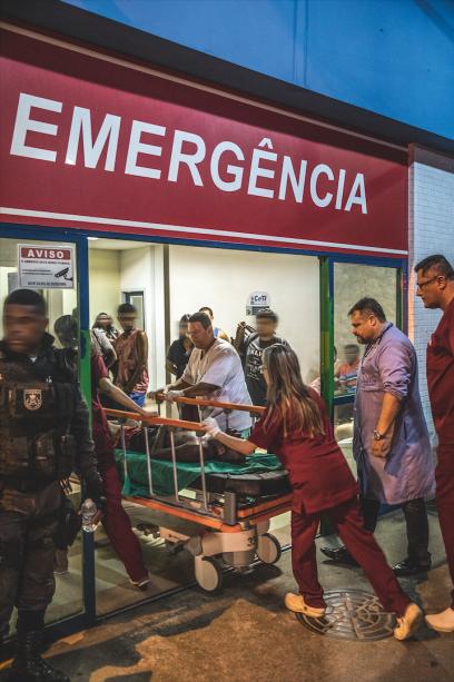 19h11: levados ao Centro de Trauma, tiveram a morte constatada