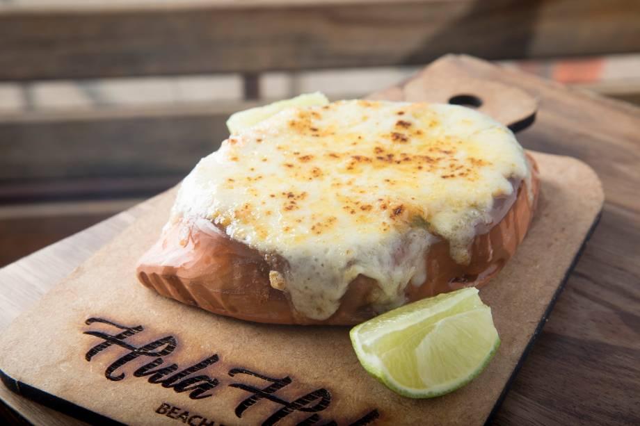 Casquinha de siri gratinada com queijo