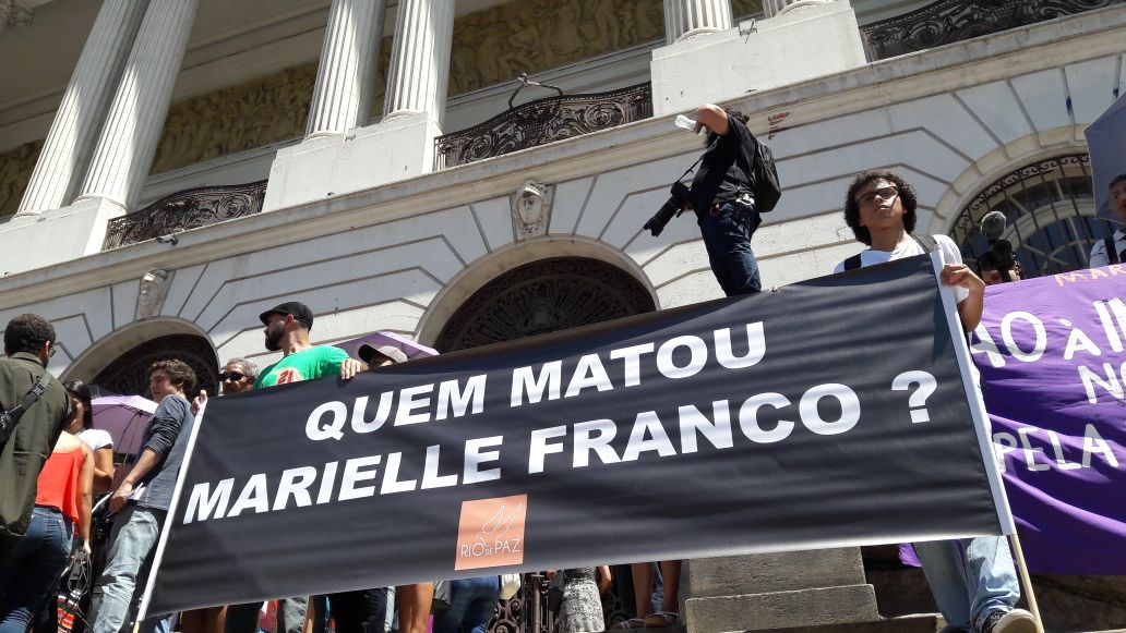 Ato na Cinelândia contra o assassinato de Marielle Franco