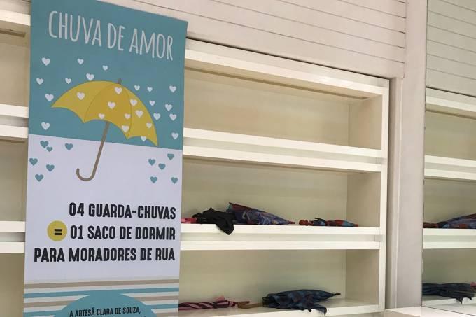 Ação 'Chuva de Amor' Center Shopping Rio (3)