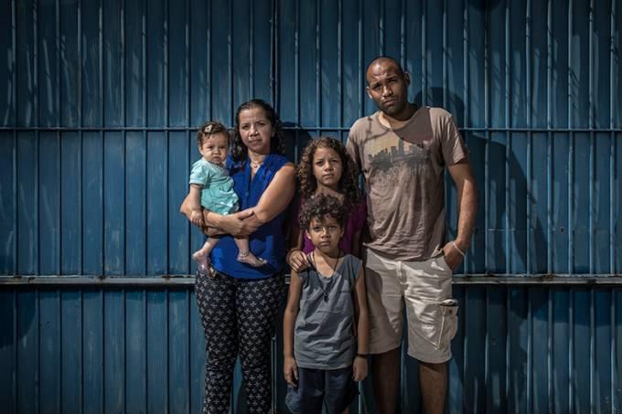Família de refugiados