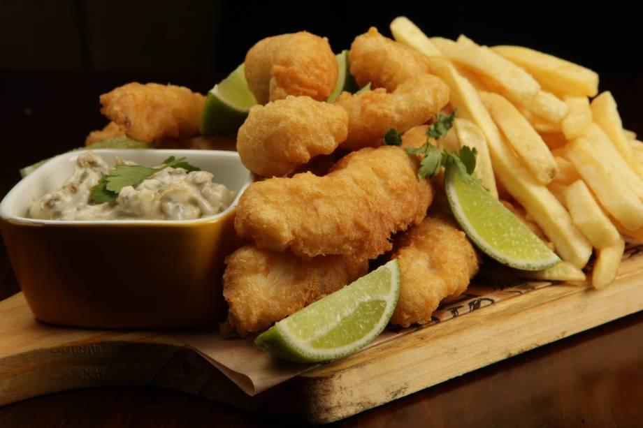 Entre os petiscos, destaque para o fish and chips