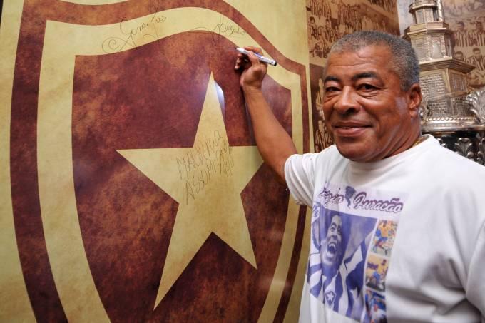 O ex-jogador Jairzinho, do Botafogo