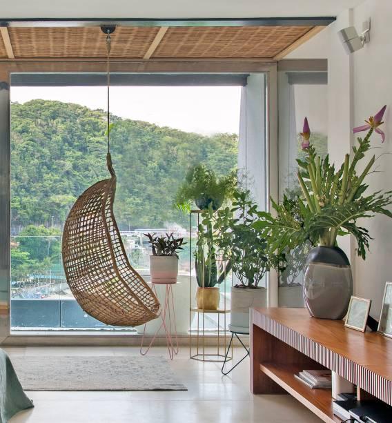 Projeto da Escala Arquitetura, em São Conrado: o balanço compõe o jardim interno