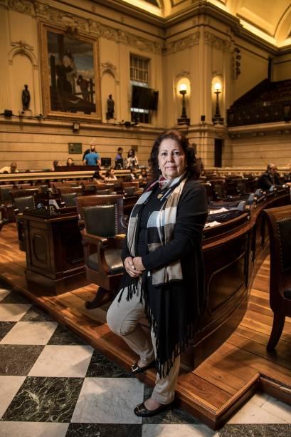 """Teresa Bergher, vereadora:""""O que a sociedade quer é que o prefeito apareça, mostre a que veio. Por enquanto o que se vê é a total falta de gestão"""""""