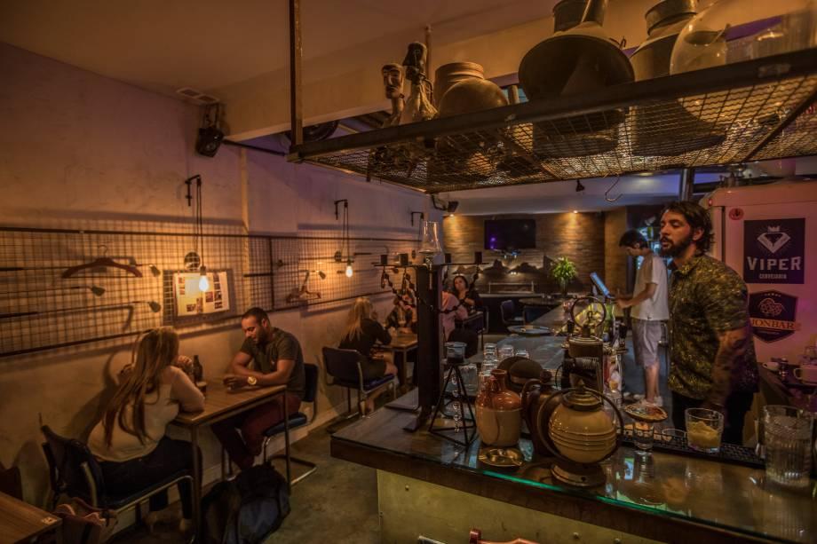 Grid FoodBar: ambiente descolado e decoração vintage