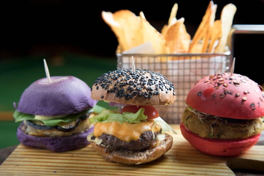 Trio de hamburguinhos: hit local