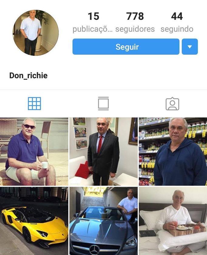 perfil fake Marcelo Rezende
