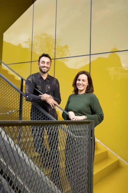 Gabriel Pinto e Cristiane Alves: visitas a centros de pontana Europa para estruturar o espaço