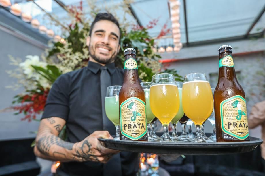 Também teve cerveja Praya para refrescar o evento