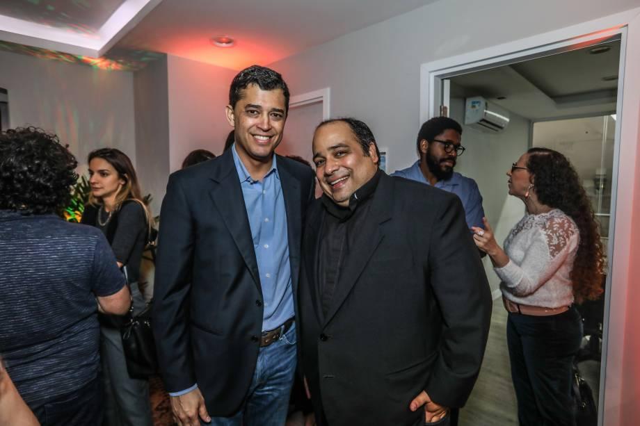 Padre Omar e o deputado federal Índio da Costa