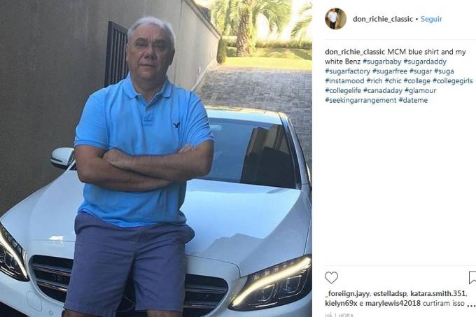 marcelo rezende perfil fake no Instagram
