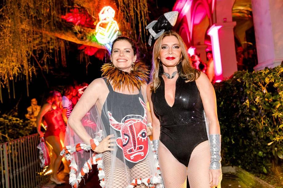As atrizes Deborah Bloch e Maria Padilha: fantasias caprichadas