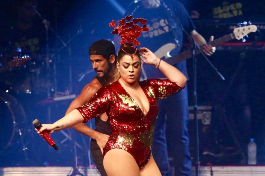 A cantora Preta Gil vai arrastar foliões pelo Centro do Rio e, no dia 23 de fevereiro, comanda um festão no Clube Monte Líbano