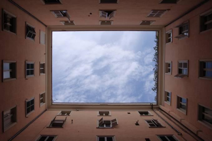 prédio janelas